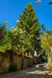 Rua bonita em Ravello Fotos de Stock Royalty Free