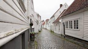 A rua branca Foto de Stock