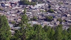 Rua cênico na cidade velha de Lijiang, província de Yunnan, China imagem de stock