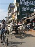 Rua caótica após o tsunami 2004 Imagem de Stock