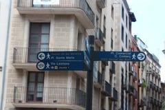 Rua carregada Barcelona fotos de stock royalty free