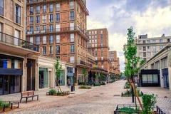 Rua central de Le Havre, Normandy, França Imagens de Stock Royalty Free