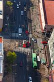 Rua central México de Eje Lazaro Cardenas acima Foto de Stock Royalty Free