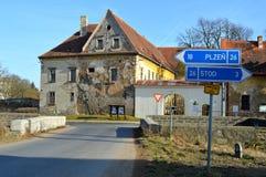 Rua checa Imagem de Stock