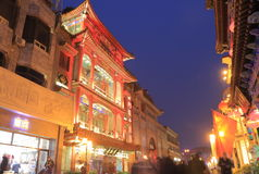 Rua China de Hutong do Pequim Foto de Stock