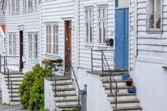 Rua colorida em Bergen, Noruega imagens de stock