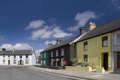 Rua colorida em Lampeter, Wales Fotografia de Stock