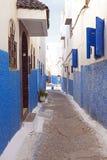 Rua colorida em Rabat, Marrocos, A Foto de Stock Royalty Free