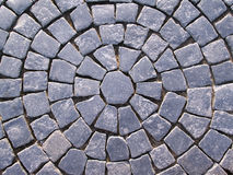 Rua com blocos do granito Imagens de Stock