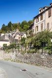 Rua com casas medievais Foto de Stock