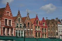 Rua com casas velhas, Bruxelas Fotografia de Stock