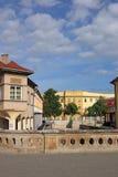 Rua com construções velhas Eger Foto de Stock