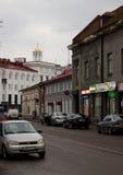 Rua com edifícios velhos Foto de Stock Royalty Free