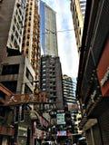 Rua com muitos sinais Fotografia de Stock Royalty Free