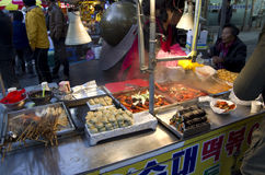 A rua come Busan Coreia do Sul foto de stock