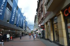 Rua comercial de Giessen Imagens de Stock Royalty Free
