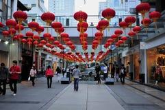 Rua comercial do templo de Wuxi Chongan Imagens de Stock