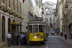 Rua Conceicao street in Lisbon Royalty Free Stock Image
