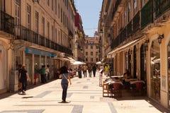 Rua Correeiros, Lisbon Stock Image