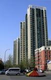 Rua da área residencial. Imagem de Stock