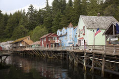 Rua da angra em Ketchikan Alaska Foto de Stock Royalty Free