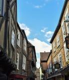 A rua da balbúrdia em York, Inglaterra Imagem de Stock