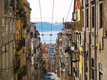 Rua da Bica 2. Lisbon,  rua da bica, river view Royalty Free Stock Images