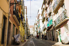 Rua da Bica, Lisbon, Portugalia (Bica ulica) Zdjęcie Royalty Free