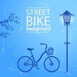 Rua da bicicleta ilustração stock