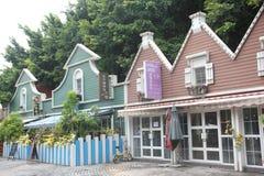 Rua da casa do café em SHENZHEN CHINA ÁSIA Fotografia de Stock