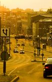 Rua da cidade da tarde fotografia de stock royalty free
