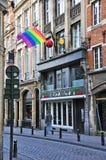Rua da cidade de Bruxelas Imagem de Stock Royalty Free