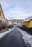 Rua da cidade de Cesky Krumlov fotos de stock
