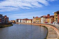 Rua da cidade de Pisa Fotografia de Stock