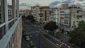 Rua da cidade do lapso de tempo de Tel Aviv filme