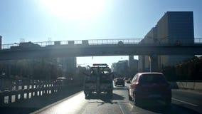 Rua da cidade que conduz no Pequim, vídeos de arquivo