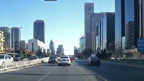 Rua da cidade que conduz o Pequim vídeos de arquivo