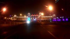 Rua da cidade que conduz o Pequim, China video estoque
