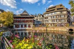 A rua da cidade Strasbourg Fotos de Stock