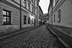 Rua da cidade velha Imagens de Stock