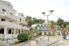 Rua da cidade velha de Herceg-Novi Foto de Stock