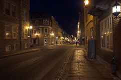 Rua da cidade velha de Quebeque Foto de Stock