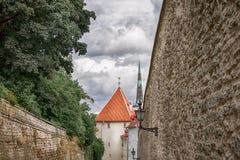 Rua da cidade velha de Tallinn em Estônia Fotos de Stock Royalty Free