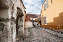 Rua da cidade velha de Tallinn em Estônia Imagem de Stock