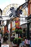 Rua da compra da pista dos negociantes de panos, Leominster Fotografia de Stock Royalty Free