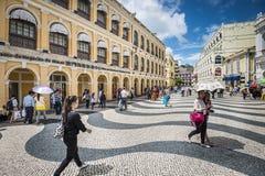 Rua da compra de Macau Imagens de Stock
