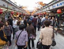 Rua da compra do dori de Nakamise fotografia de stock