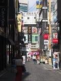 Rua da compra do Myeong-dong Fotos de Stock Royalty Free