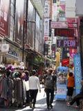 Rua da compra do Myeong-dong Fotos de Stock
