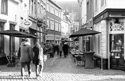 Rua da compra em Maastricht. Foto de Stock Royalty Free